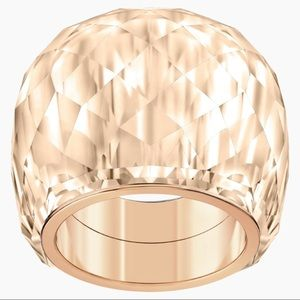 SWAROVSKI NIRVANA RING ROSE-GOLD TONE PVD